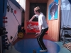 Martin Kukla při procvičování hodu diskem