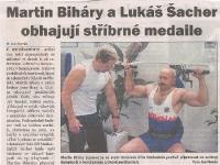 Martin Biháry a Lukáš Šacher obahují stříbrné medaile